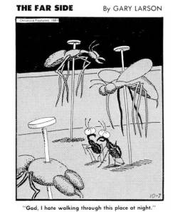 Bugs were common fodder in The Far Side